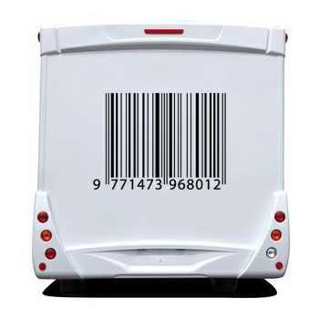 Barcode Camping Car Decal