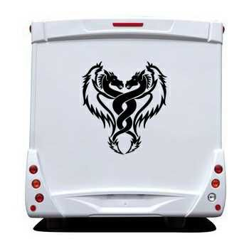 Tribal dragons Camping Car Decal