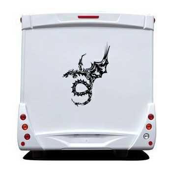 Autocollant Camping Car Dragon Tribal Design
