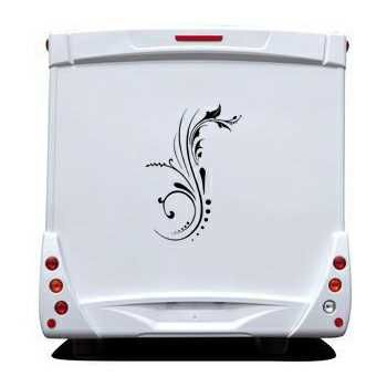 Flower design Camping Car Decal