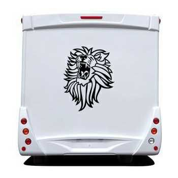 Roaring Lion Camping Car Decal