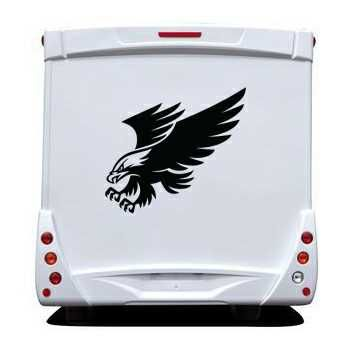 Sticker Camping Car Aigle Deco 4