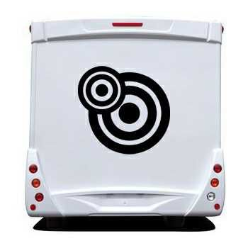 Rounded Circles Camping Car Decal