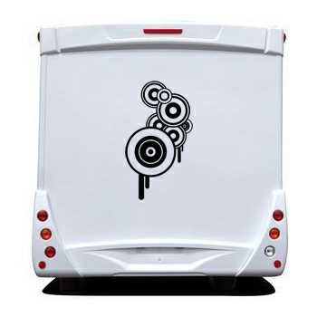 Round Circle Camping Car Decal 2