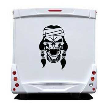 Apache Skull Camping Car Decal