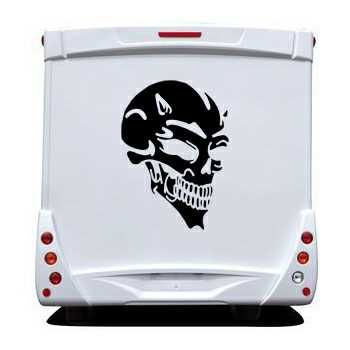 Devil Skull Camping Car Decal 7