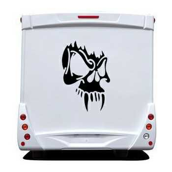 Skull Camping Car Decal 8