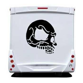 Skull Camping Car Decal 10