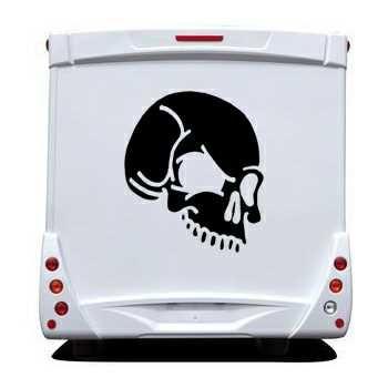 Skull Camping Car Decal 11