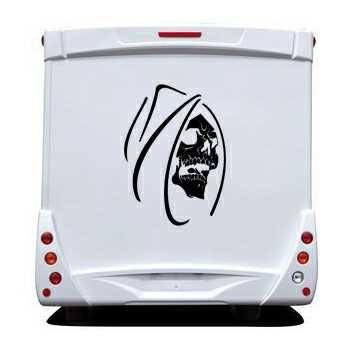 Skull Camping Car Decal 12