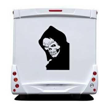 Sticker Camping Car tete de Mort 13
