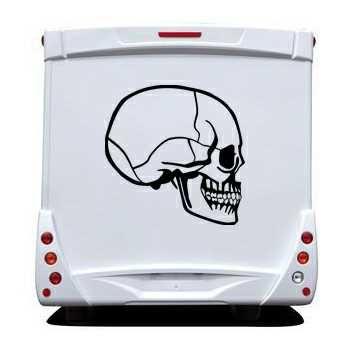 Sticker Camping Car Tête de Mort 26