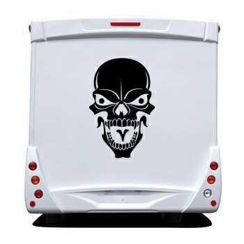 Skull Camping Car Decal 27