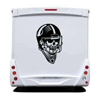 Football Helmet Skull Camping Car Decal