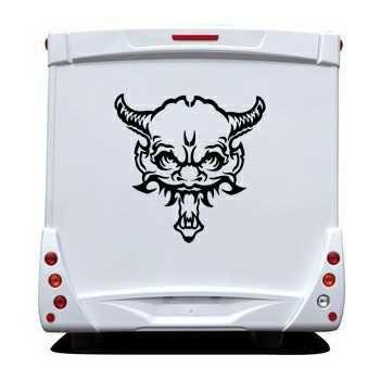 Demon Skull Camping Car Decal 15