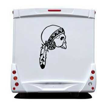 Indian Skull Camping Car Decal 18