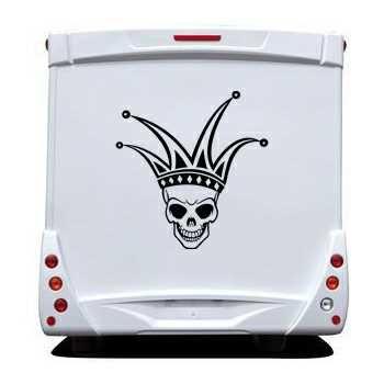 Joker Skull Camping Car Decal 26