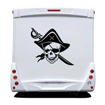 Pirate Skull Camping Car Decal 21