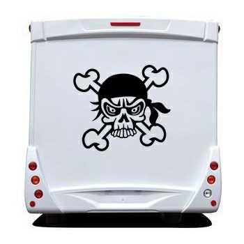 Pirate Skull Camping Car Decal 29