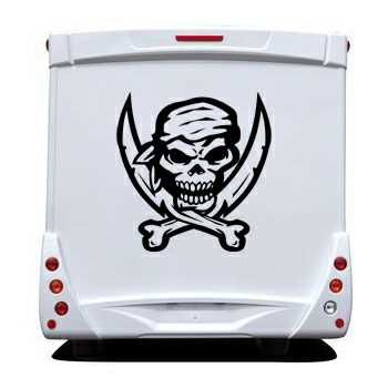 Pirate Swords Skull Camping Car Decal 22