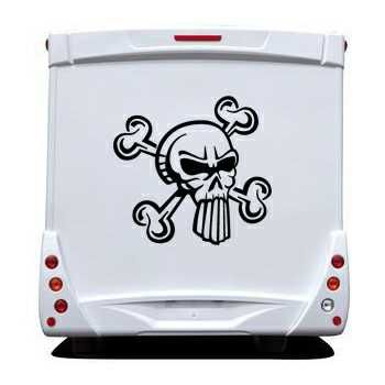 Punisher Skull Camping Car Decal 28