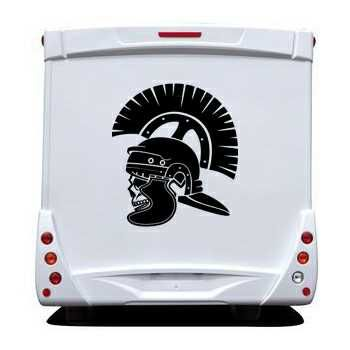 Roman Soldier Skull Camping Car Decal 23