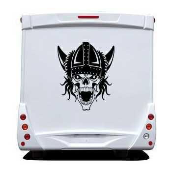 Viking Skull Camping Car Decal 30