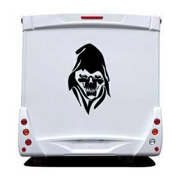 Skull Camping Car Decal 6