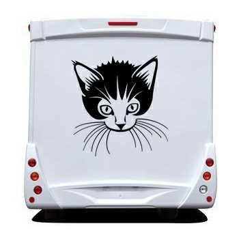 Kitten Camping Car Decal