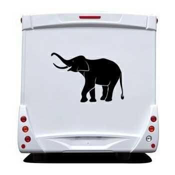 Sticker Camping Car Éléphant