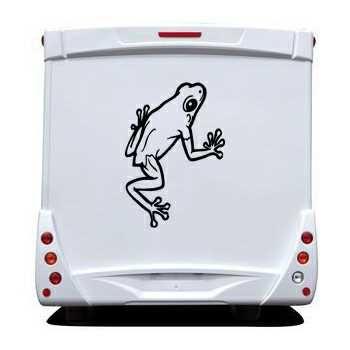 Frog Camping Car Decal 5