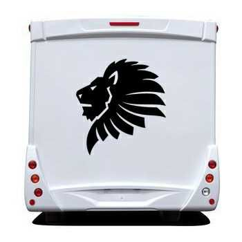 African Lion Camping Car Decal
