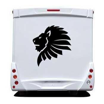 Sticker Camping Car Lion Afrique