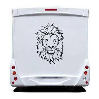 Lion Face Camping Car Decal