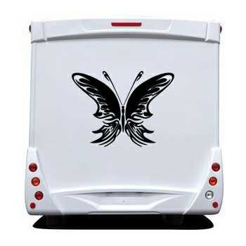 Sticker Camping Car Papillon 73