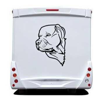 Pit Bull dog Camping Car Decal