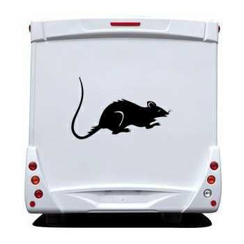 Sticker Camping Car Rat