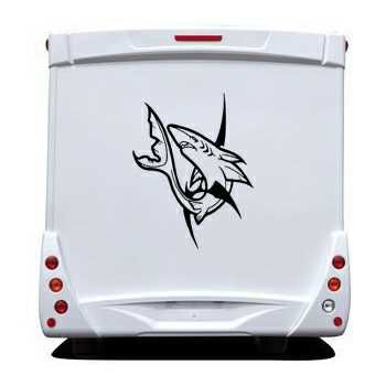 White Shark Camping Car Decal