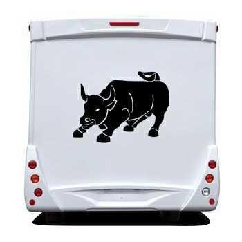Bull Camping Car Decal 2