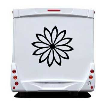 Decorative Flower Camping Car Decal