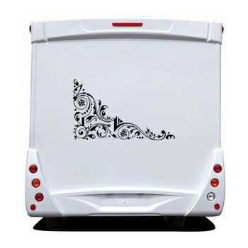Design flowers Camping Car Decal