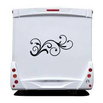 Design flowers element Camping Car Decal