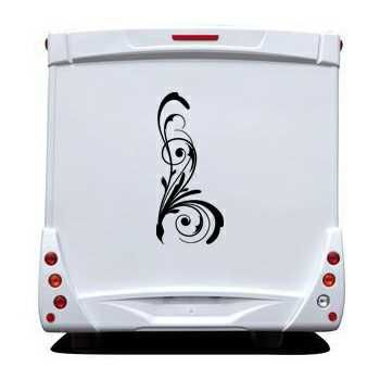 Design flowers element Camping Car Decal 3