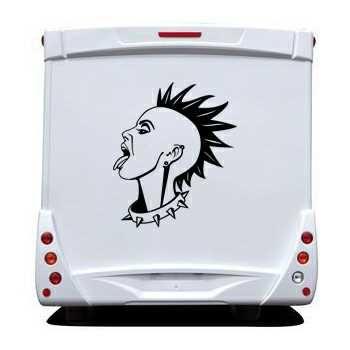 Sticker Camping Car Fille Punk