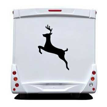 Sticker Camping Car Cerf