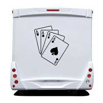 Ace Cards Game Camping Car Decal