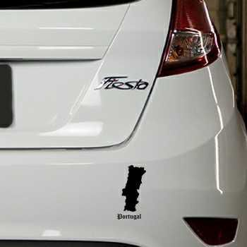 Portugal Silhouette Ford Fiesta Decal