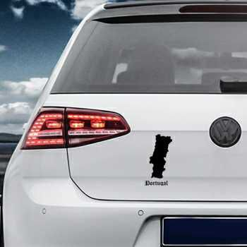 Portugal Silhouette Volkswagen MK Golf Decal