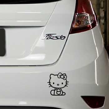 Sticker Ford Fiesta Deco Hello Kitty Assis