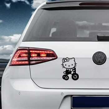 Hello Kitty Bicycle Volkswagen MK Golf Decal